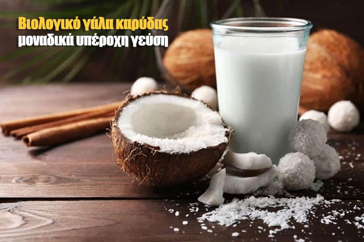 Βιολογικό γάλα καρύδας